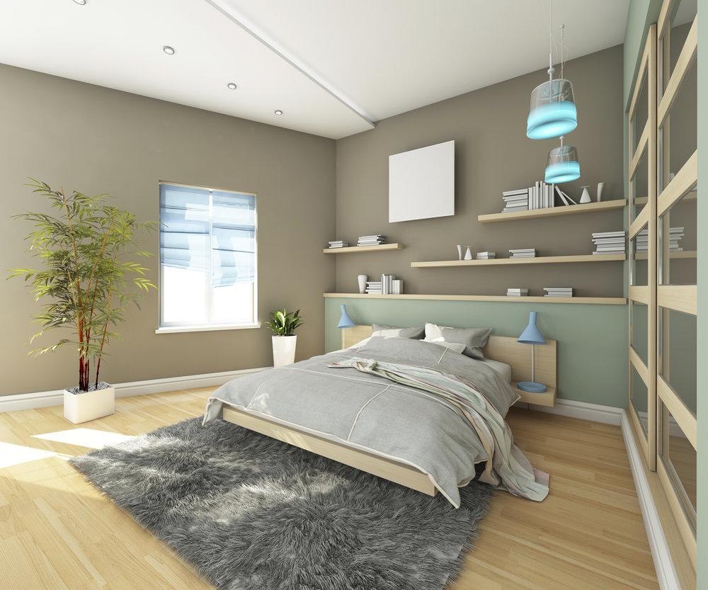 Teen's Bedroom With Carpet