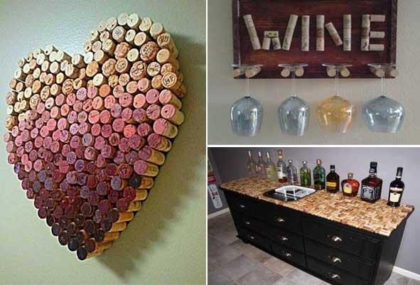 Una divertida decoración con corchos de vino - Decoraciones Gómez